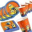 Minions Basis-Set, Teller, Becher, Servietten, 36 Teile, f�r bis zu 8 Kinder