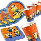 Minions Basis-Set, Teller, Becher, Servietten, 36 Teile, für bis zu 8 Kinder