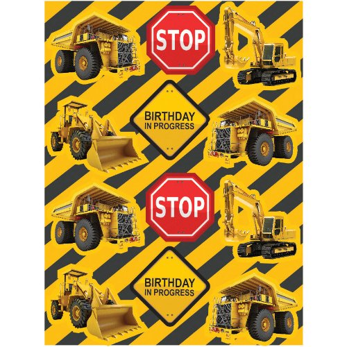 Construction Zone Sticker Party Favors (4 sheets) - 1