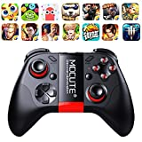 qiaoW 1Pcs MOCUTE 054 Wireless Gamepad Bluetooth Game Controller Joystick For Android/iSO Phones Mini Gamepad Tablet PC VR box (Color: Black, Tamaño: Small)