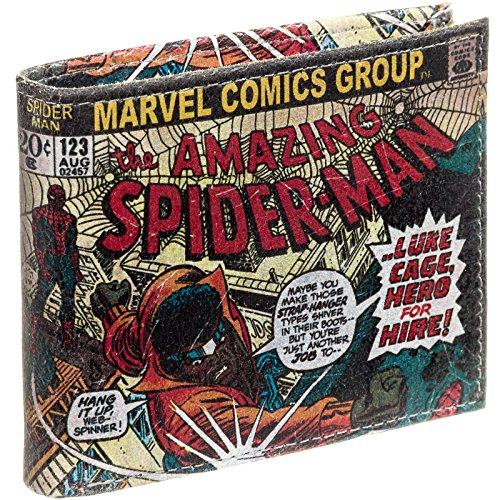 Marvel Comics Leather Character Bifold Wallet w/ Gift Box