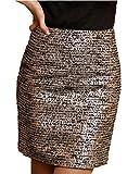 タイト ! エレガント で 高貴 な ペンシル スカート レディース ファッション 美尻 美脚 に ! / ブラック × ゴールド ,  アプリコット / S M L XL / 大きい サイズ あります!