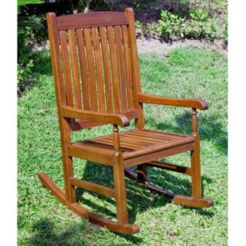 ... Caravan Traditional Stained Acacia Wood Slat Rocking Chair NEW  eBay