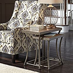 Signature Design by Ashley Nartina 2 Piece Nesting End Table Set