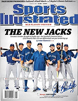 Jose Bautista Signed Autographed Auto Toronto Blue Jays SI Sports Illustrated - Proof - Proceeds go to Charity