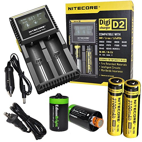nitecore-d2-digicharge-universal-home-in-car-battery-charger-two-nitecore-18650-nl188-3100mah-rechar