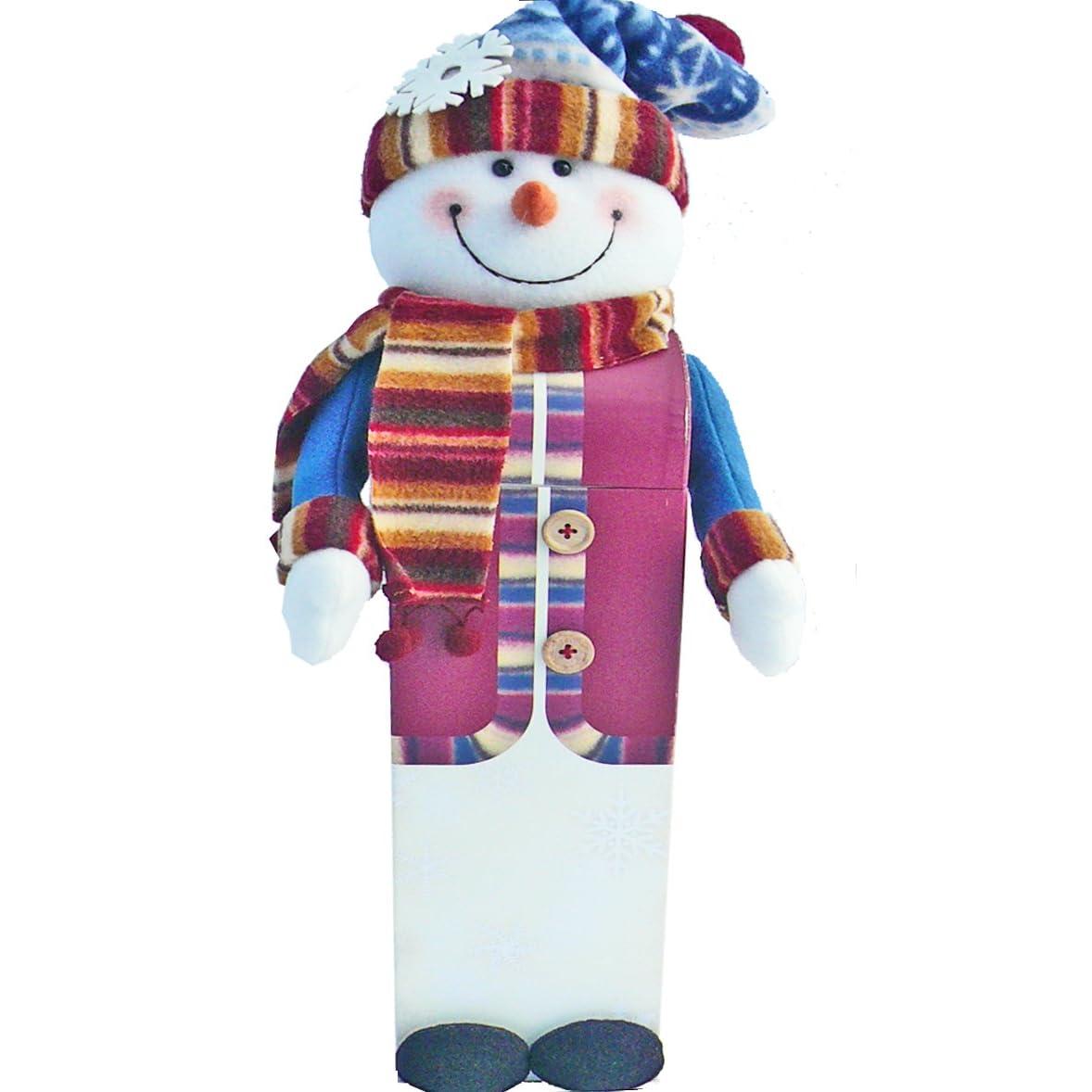 Caixa de presente do boneco de neve de férias Treats, cesta do presente de Natal