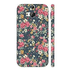Enthopia Designer Hardshell Case Blue Blossom Back Cover for HTC One M8