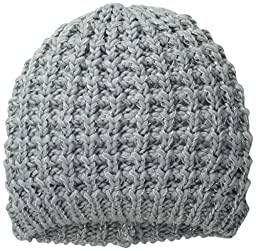 Digits Big Girls\' Icelandic Metallic Yarn Knit Beanie, Silver, One Size