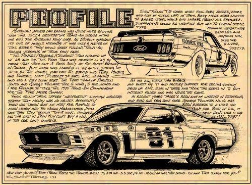 1970 Boss 302 Mustang Trans-Am Racer Art Print