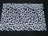 28cm x 19cm Faux Furry Fabric Black Leopard Spots Animal Print: Skin decal stickers for Craft Kids Scrap Books Birthday Card Mobile phone - By Fat-Catz