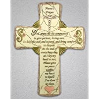 Nurse Cross Nursing Gift With Caduceus And Nurse's Prayer Stone Look
