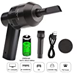 Keyboard Cleaner Powerful Rechargeable Mini Vacuum Cleaner,Cordless Portable Vacuum-Cleaner Tool for Cleaning Dust, Hairs, Crumbs, Scraps for Laptop, Piano, Computer, Car, Makeup Bag, Pet House (Color: black)