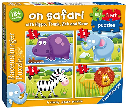 Ravensburger Italy 73016 - My First Puzzle Safari Progressivi, 2/3/4/5 Pezzi, Multicolore