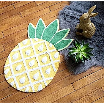 YOUSA Pineapple Door Mat Cartoon Area Rugs Pineapple Welcome Rug (32.6x19.3x7.1)