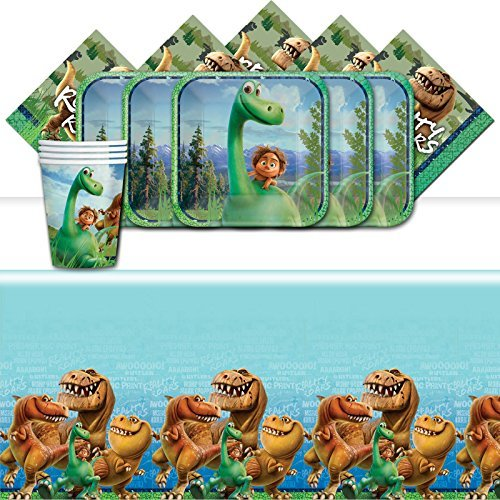 Official Disney Pixar The Good Dinosaur Complete Parties Supplies Kit For 16 Plates Cups Napkins Table Cover