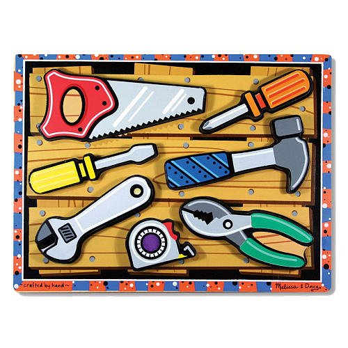 Melissa Doug Tools Chunky Puzzle front-675807