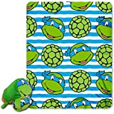 "Nickelodeon Teenage Mutant Ninja Turtles, ""Mushy Leo"" 12"" By 8"" Mush'Um Character With Zipper Pocket And 40"" By..."