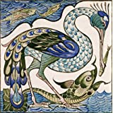 Heron and Dolphin, by William De Morgan (V&A Custom Print)