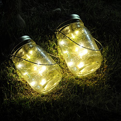 upgraded mason jar lights ithird 3 pack 10 led warm white solar fairy lights lids insert for. Black Bedroom Furniture Sets. Home Design Ideas