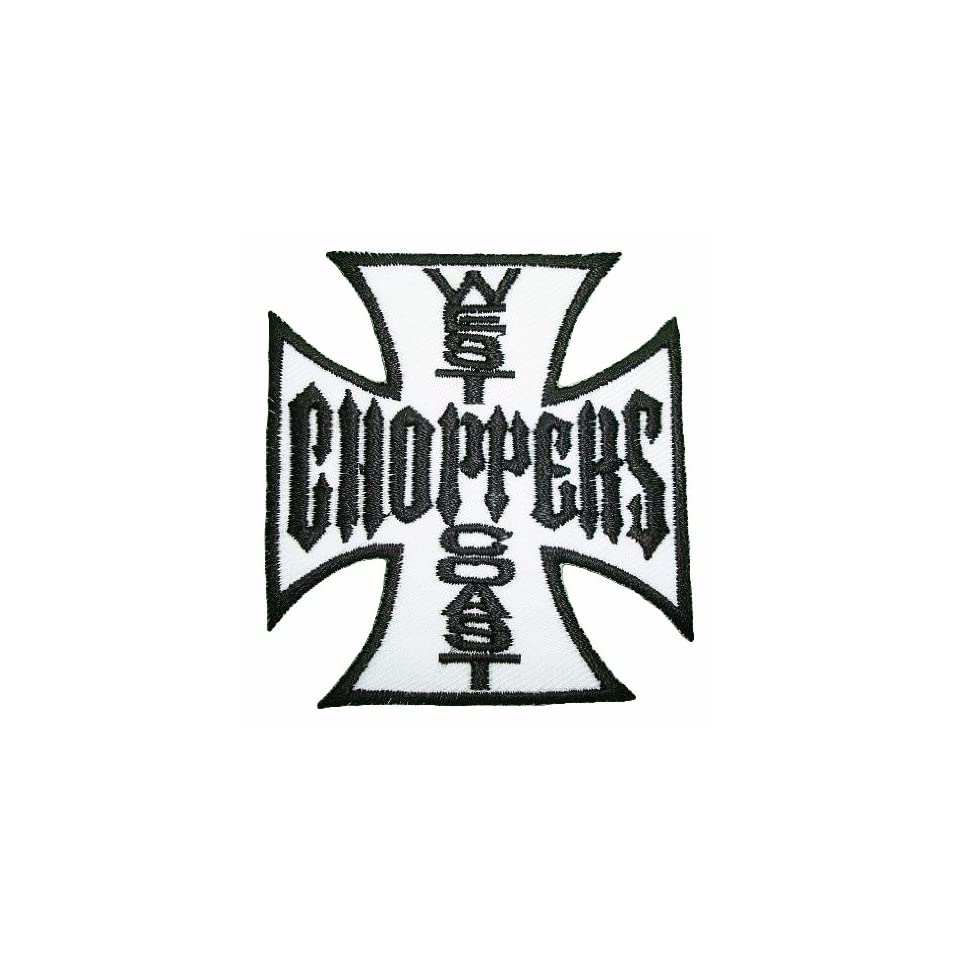 West Coast Choppers Motorcycles White Logo Jacket BW01 Patches