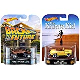 Hot Wheels Retro Entertainment 1948 Ford Super De Luxe Collection with Karate Kid & Back to the Future (Color: black, yellow)