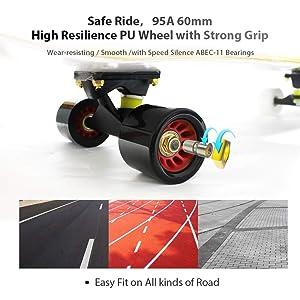 Easy/_Way Skateboard Wheels ABEC-11 Bearings 60mm 95A