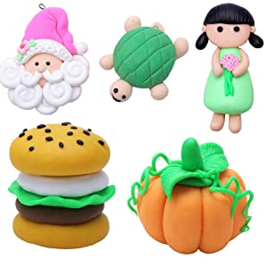 DIY Colored Clay 32 Colors Polymer Clay Creative Street Model Clay Soft Molded Oven Baking Clay Tutorial Best Gift for Children (Tamaño: 7.1 x 6 x 0.5 inches)