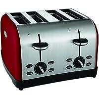 Oster TSSTTRWF4R 4-Slice Toaster (Red)