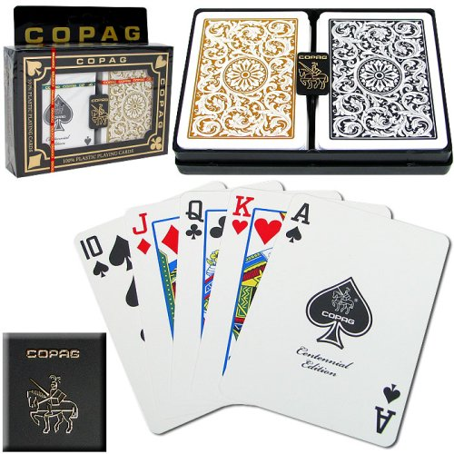 Copag Poker Size Regular Index 1546 Playing Cards (Black Gold Setup)