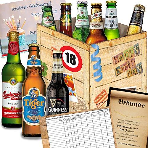 geburtstagsgeschenke f r m nner zum 18 bier aus aller welt geschenk box gratis. Black Bedroom Furniture Sets. Home Design Ideas