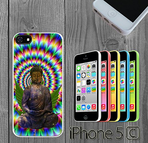 Pyschedelic Enlightenment Buddha Weed Galaxy Custom made Case/Cover/skin FOR iPhone 5C