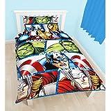 Character World Parure de lit simple réversible Multicolore Motif Marvel, les agents du SHIELD de Disney 91 cm