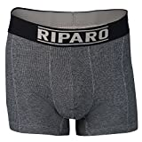 Riparo Silver-Lined Boxer Briefs to Shield Against EMF Radiation (Black, Size 28-30), 3-Pack