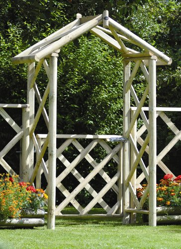 M&M Timber Ltd Cottage Arch 8H X 5 7W X 24D With Integral Gate