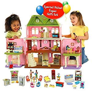 Fisher-Price Loving FamilyTM Grand Dollhouse Super Set (African-American Family)