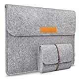 Inateck 13-13.3 Inch MacBook Air/Retina Macbook Pro/12.9 Inch iPad Pro Sleeve Case Cover Ultrabook Netbook Carrying Case Protector Bag - Light Gray (Color: Light Gray, Tamaño: 12.9-13.3 Inch)