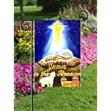 Jesus Is the Reason Garden Flag Manger Lamb Gifts 