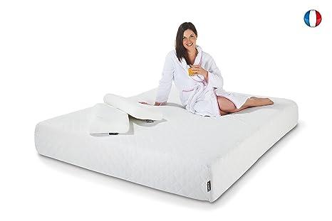 Hypnia - Matelas 160x200 cm Privilège 25 mousse à mémoire de forme + 2 oreillers offerts 160 x 200 (cm)