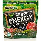 Organic Energy Drink Mix   Matcha Green Tea + Yerba Mate + Cacao + Goji Berry + Pomegranate + Maqui Berry   Natural Caffeine Pre-Workout Supplement Powder   Gluten Free + Vegan + Non GMO