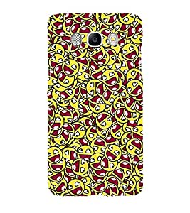 Printvisa Dual Colour Smiley Pattern Back Case Cover for Samsung Galaxy J7 (2016)::Samsung J710F