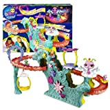 Hasbro Year 2012 Littlest Pet Shop Fairies Bobble Head Pet Figure Playset - FAIRY FUN ROLLERCOASTER With Soaring...