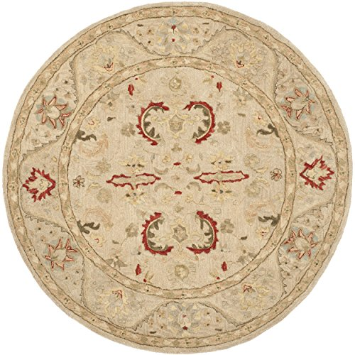Safavieh Anatolia Collection AN570A Handmade Beige Wool Round Area Rug, 6 feet in Diameter (6' Diameter)