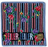 (フェイラー)FEILER 【フェイラー/FEILER】 ニューディディエッタ ハンカチ(黒×ブルー) 011810J2525