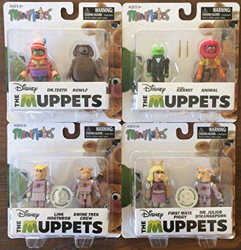 The Muppets: Complete Set of 8 Minimates Figures Custom Bundle (Dinosaur Costume Adults Realistic)