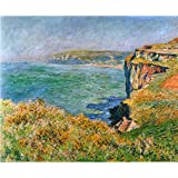 Tallenge Old Masters Collection - Cliffs At Varengeville By Claude Monet - A3 Size Premium Quality Rolled Poster