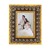 Home And Bazaar Ethnic Rajasthani Handpainted Photo Frame - Grey