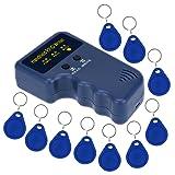 LIBO Handheld 125khz RFID Duplicator Key Copier Reader Writer ID Card Cloner Programmer + 10pcs Writable EM4305/T5577 Key Cards Keyfobs