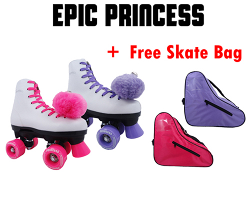 Epic Princess Kids Quad Roller Skates