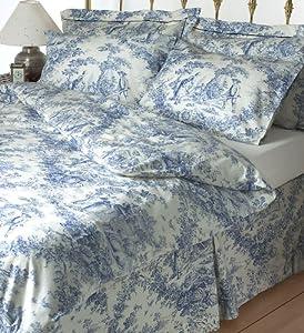 Toile de jouy blue double duvet cover